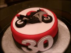 Motorcycle Birthday Cake by Olive Parties