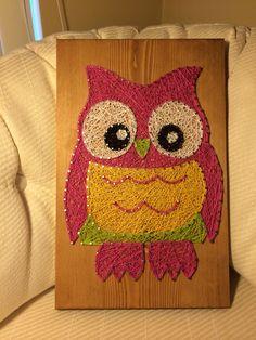 Owl string art (bird) - Order from KiwiStrings on Etsy! ( www.KiwiStrings.etsy.com )