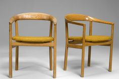 "Carl-Axel Acking pair of ""Tokyo""chairs - Acking, Carl-Axel"