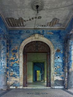 Blue Archway. Havana 2014 Photo Copyrighted by Michael Eastman.