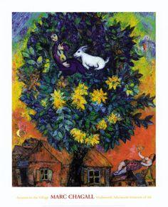 Marc Chagall - Between Surrealism & NeoPrimitivism Marc Chagall, Artist Chagall, Chagall Paintings, Arte Floral, Pablo Picasso, Oeuvre D'art, Framed Art, Wall Art, Modern Art
