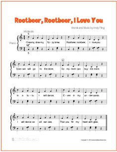 Rootbeer, Rootbeer, I Love You | Free Sheet Music for Easy Piano - http://whatisrootbeer.com/rootbeer-rootbeer-piano.php (Scheduled via TrafficWonker.com)