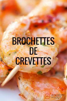 Changez des traditionnelles brochettes de viande, essayez cette variante marine à base de crevettes #crevettes #barbecue #brochettes #AcadémieDuGout