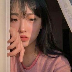 peach aesthetic ulzzang girl 얼짱 orange pink pastel light