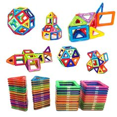 Discount This Month Big Size Magnetic Building Blocks Triangle Square Brick designer Enlighten Bricks Magnetic Toys Free Stickers Gift Model Building, Building Toys, Magnetic Building Blocks, Magnetic Toys, Triangle Square, Educational Toys For Kids, Free Stickers, Creative Thinking, Acrylic Beads