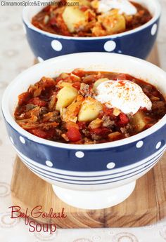 My Husband's Favorite Beef Goulash Soup