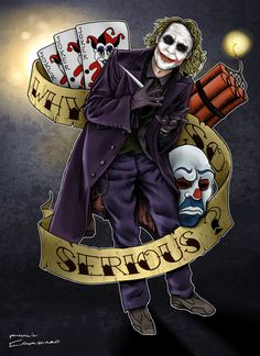 Why So Serious Joker Tattoo Poster