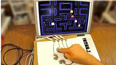Look what you can do with MaKey MaKey! (Yes, they're using a pencil drawing as a joystick).