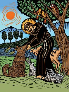 St Francis and the Wolf