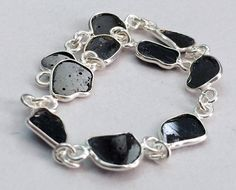 WHOLESALE 10 Black Diamond Slice Connector Chains by gemsforjewels