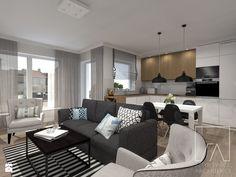 Mieszkanie // Wronki - Salon, styl nowoczesny - zdjęcie od Sztyblewicz-Architekci