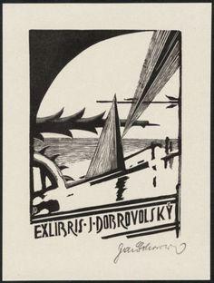 Bookplate by JAROSLAV DOBROVOLSKY - 1932