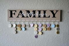 My next DIY project - this birthday calendar!