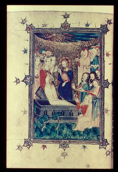 Raising of Lazarus - From a Psalter made c.1380, one of a group of manuscripts associated with the Bohun family, and possibly made for Mary de Bohun who married Henry Bolingbroke (later Henry IV).