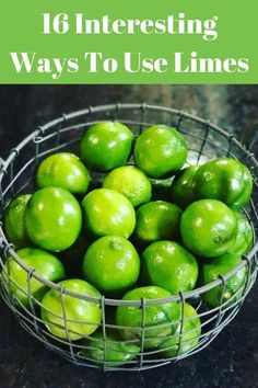 Limes are a versatile fruit with many different uses. Lemons may be more popular, but Limes have benefits for health and unique uses in your home. Check out this post to see all the ways you can take advantage of them via nutritionyoucan Lime Recipes Healthy, Citrus Recipes, Fruit Recipes, Cooking Recipes, Healthy Food, Healthy Meals, Recipe Using Limes, Lime Uses, Restaurants