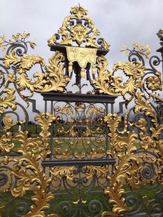 Golden gates at Hampton Court Palace
