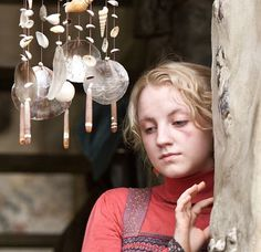 "Luna Lovegood ""Muggles think these keep evil away, but they're wrong."""