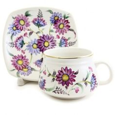 The Flower Collection Cup & Saucer Set, $18.00. Catalog of St Elisabeth Convent, #CatalogofGoodDeed #cup #pottery #ceramic #sweethome