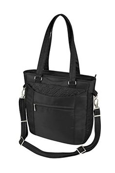 Travelon AntiTheft Tote With Stitching Black One Size *** ON SALE Check it Out