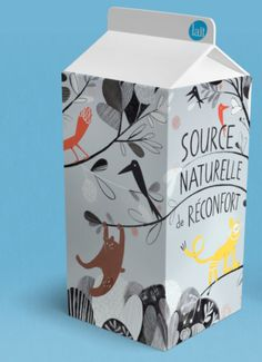 Isabelle Arsenault - milk packaging