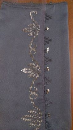 This Pin was discovered by Bir Embroidery On Kurtis, Hand Embroidery, Embroidery Designs, Cross Stitch Heart, Cross Stitch Borders, Pretty Eye Makeup, Bridal Makeup Looks, Monogram Alphabet, Weaving Patterns