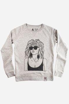 Neck Collar, Boss Lady, Heather Grey, Sweaters For Women, Circular Economy, Graphic Sweatshirt, Unisex, Sweatshirts, Spun Cotton
