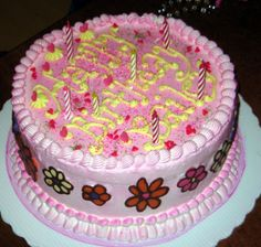 Lovely Birthday Cake With Flowers