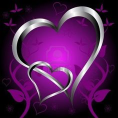 Purple Hearts and Roses | purple-hearts-valentines-day-background-with-silver-hearts-and-flowers ...