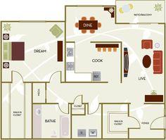 1 Bed / 1 Bath - 981 square feet