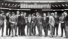 FA Cup Final May 1968 Everton vs. West Brom Everton players take in their surroundings ahead of the match vs. West Brom at Wembley.