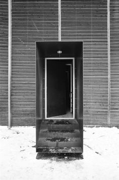 steel stair | entry ~ peter zumthor