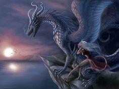 Desktop Wallpaper-s  Fantasy  Blue Dragon, Fantasy