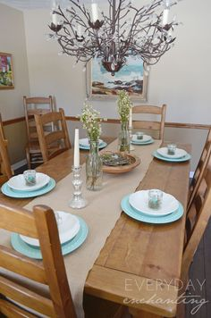 Easter And Farmhouse Inspired Spring Home Tour 2015 Dining RoomsKitchen