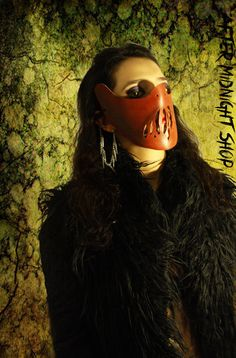 Melting mouth hannibal leather mask drak red by AfterMidnightShop, €30.00  Melting mouth hannibal leather mask drak red silence of the lambs unisex cosplay comic costume masquerade sexy gothic goth horror fetish