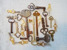 Vintage Lot of 22 Steel Brass Iron Skeleton by SwirlingOrange11