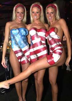 American paint flag body women