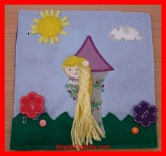 KhadeCreativa.com Rapunzel Braiding and buttoning Quiet Book, wish my Page would Look like this. by BusyBookBuilders source by :http://pinterest.com/pin/332984966176573692/