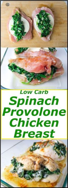BEST BAKED SPINACH PROVOLONE CHICKEN BREASTS