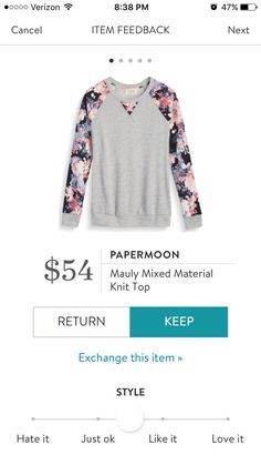 Stitch Fix Papermoon Mauly Mixed Material Knit Top Perfect top for those casual days at home or running errands!