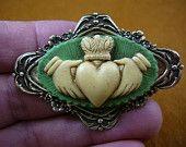 claddaugh brooch on etsy Celtic Pride, Irish Pride, Irish Celtic, Cameo Jewelry, Rhinestone Jewelry, Vintage Rhinestone, Heart Crown, Claddagh Rings, Claddagh Symbol