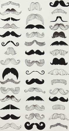 Alexander Henry Nicole's Prints Where's My 'Stache? Natural by The Stitch Lab in Austin, Texas, via Flickr