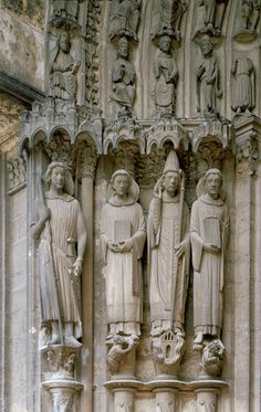 Jamb Statues At Chartres Cathedral | ... Jamb Statues, South Transept portal, Cathedral of Notre-Dame, Chartres