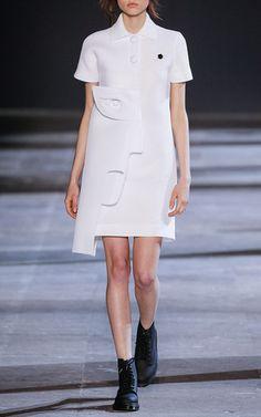 White Technical Pique Polo Dress by VIKTOR&ROLF for Preorder on Moda Operandi
