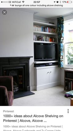 Chloe: Alcove Cupboards and Shelves - Modern - Living Room - london - by Exploit Space Alcove Storage, Alcove Shelving, Alcove Cupboards, Dvd Storage, Storage Ideas, Corner Tv Cabinets, Cabinet Storage, Smart Storage, Corner Shelves