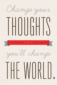Norman Vincent Peale: Change Your Thoughts and You'll Change Your World Inspirational Word Art Print. via Etsy. Words Quotes, Wise Words, Me Quotes, Motivational Quotes, Inspirational Quotes, Great Quotes, Quotes To Live By, Just Dream, Positive Thoughts