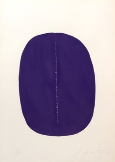 Concetto Spaziale - Viola. 1965 Lucio Fontana - William Weston Gallery