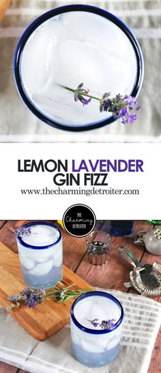 Lemon Lavender Gin Fizz: A refreshing cocktail featuring homemade lavender simple syrup paired with lemon juice and gin.