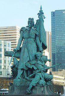 Monument aux morts de la guerre de 1870 en France, Puteaux. quartier de la Défense. Paris