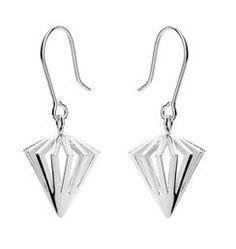 Tiima earrings with studs. Also available with hook mechanism! Hanging Earrings, Drop Earrings, Scandinavian Design, Jewelry Design, Pendants, Bracelets, Silver, Studs, Jewellery