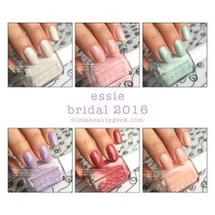 Essie Bridal 2016 Collection Swatches & Review at imabeautygeek.com